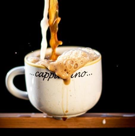 cappuccino spill