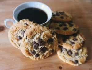 coffee-and-chocolate-chip-cookie
