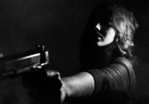 Lady With Handgun