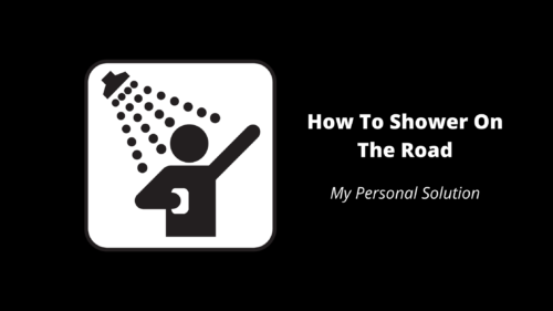 How To Shower On The Road - Wilde Escape