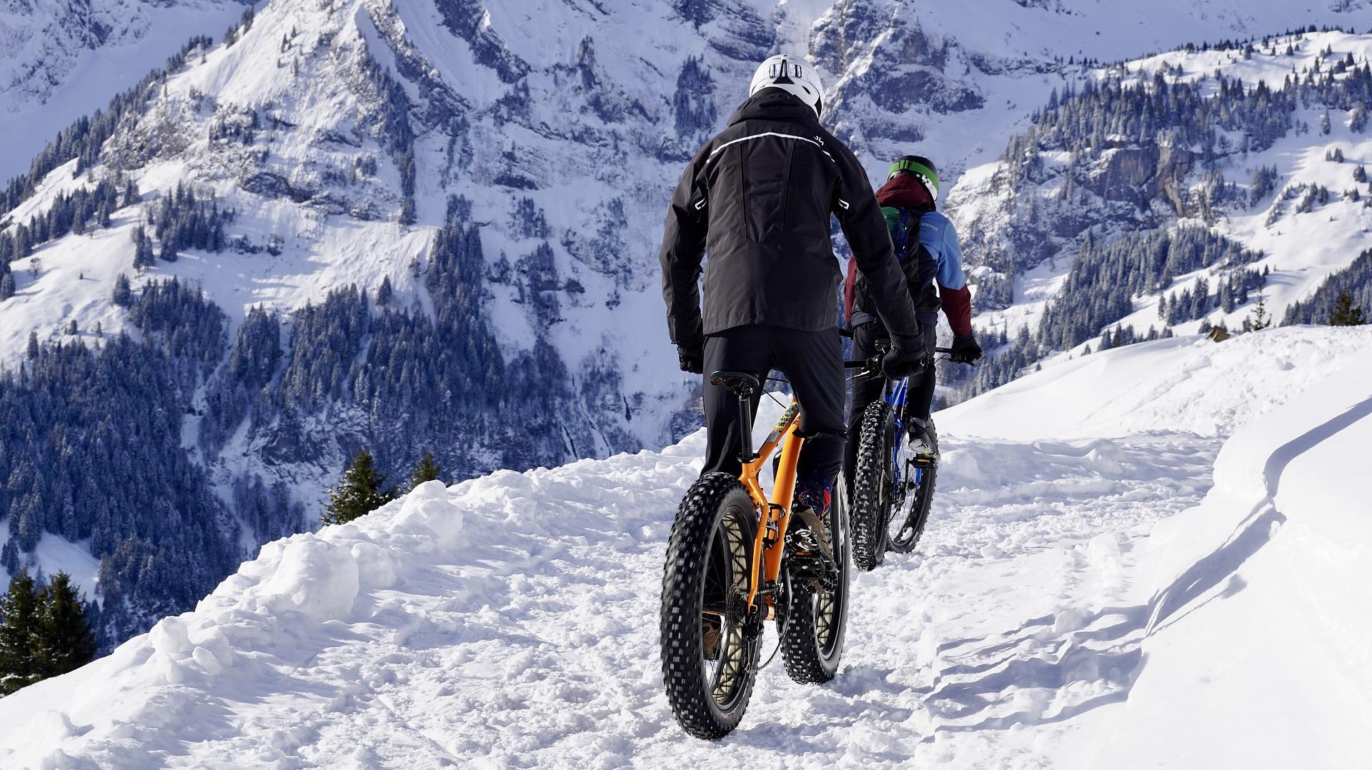 Fat Tire Bike In Snow