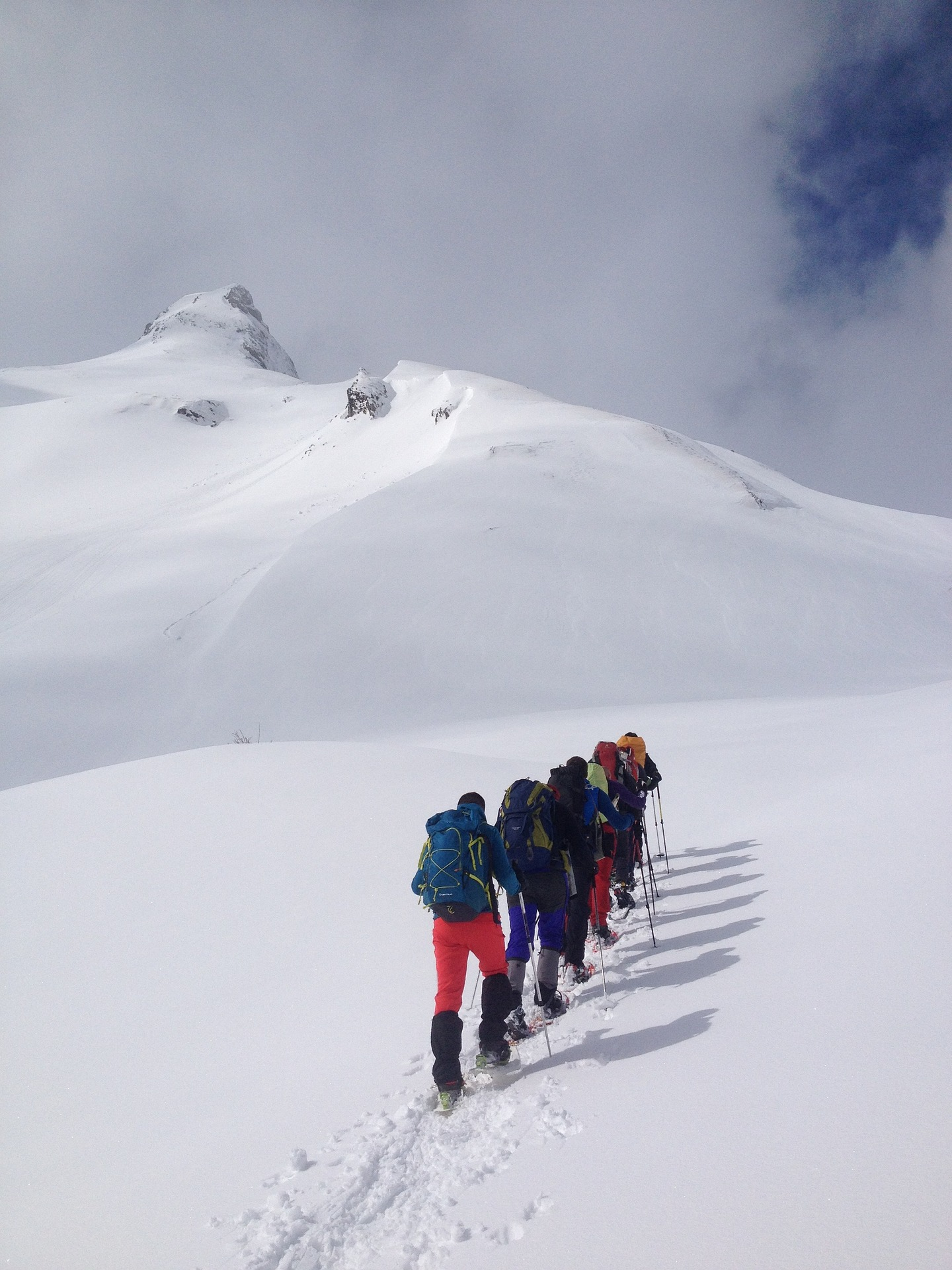 snowshoeing-in-line-up-mountain
