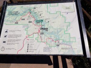 map-of-Balck-Canyon-national-park
