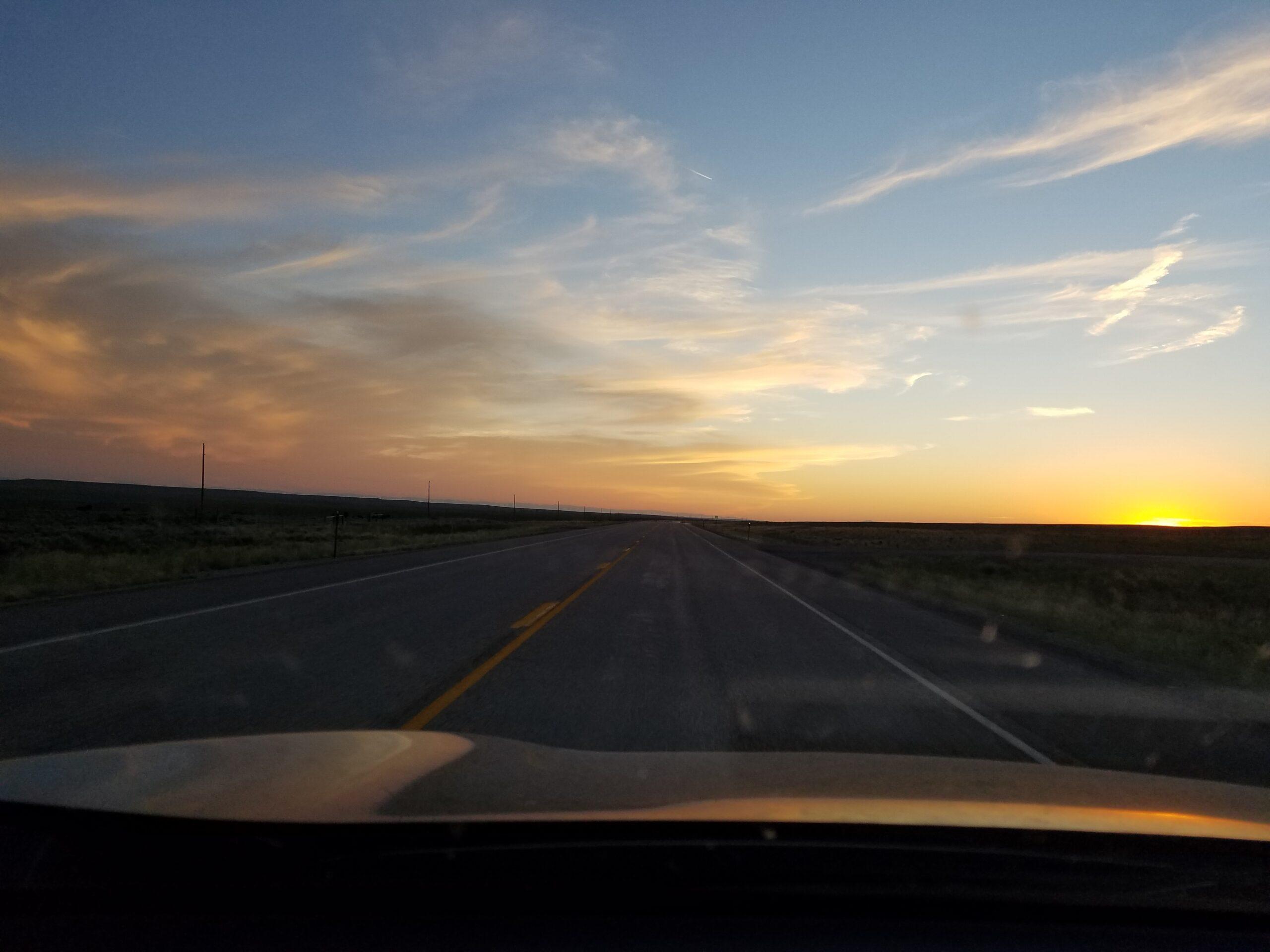sunset-driving